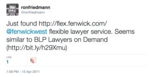 RonFriedmann_2011Tweet_Fenwick_Flex