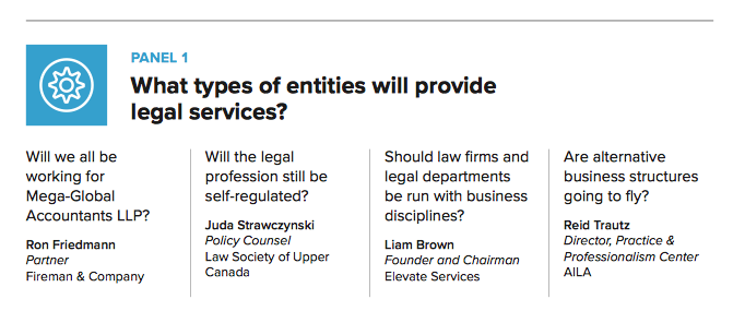 What types of entities will provide legal services in 2026 - COLPM Futures 2016 Conference