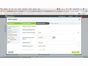 Online lega service - Shoobx Equity Grant