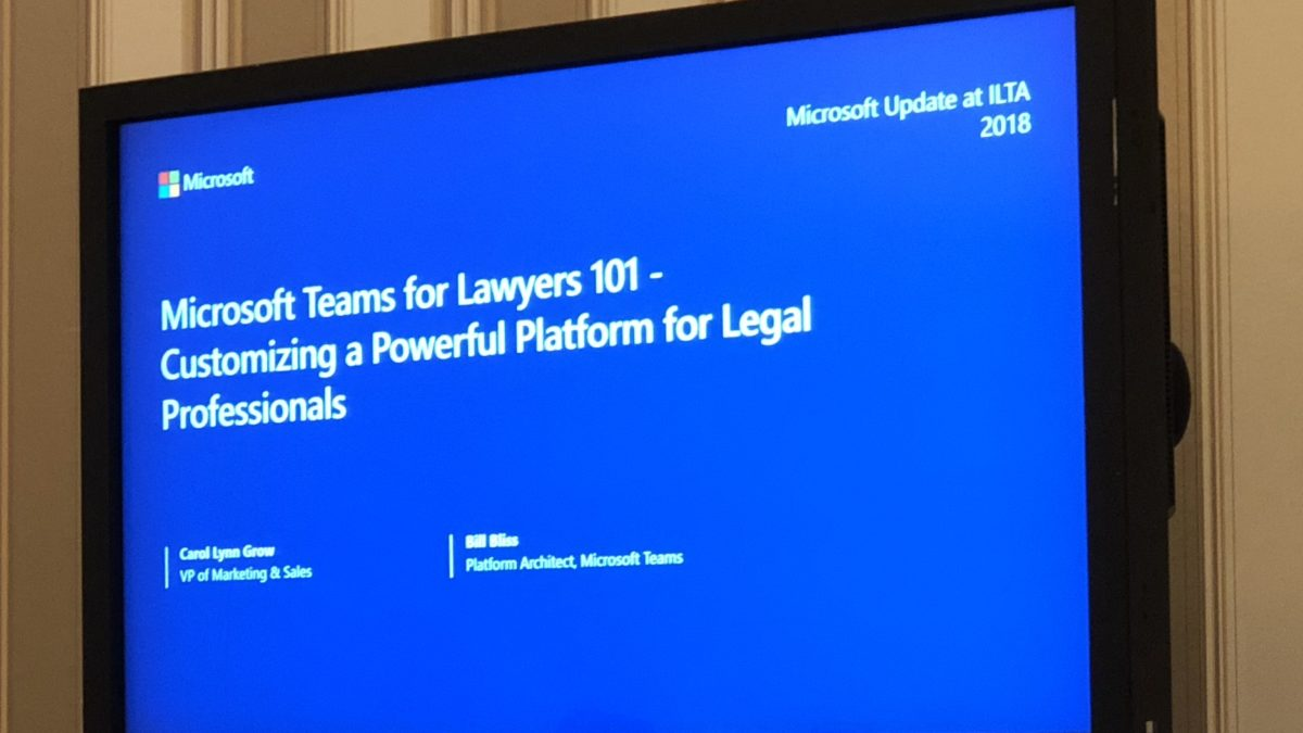 Microsoft Teams for Lawyers 101 – Customizing a Powerful Platform for Legal Professionals (Live)